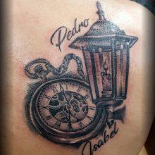 uhr taschenuhr namen laterne tattoo